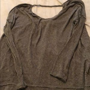 Free people heathered green open back top